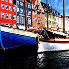 Boats at Nyhavn, Copenhagen. by hans p olsen
