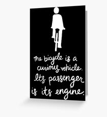 Curious Vehicle Greeting Card