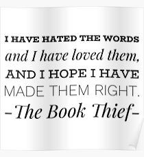 The Book Thief Quotes Posters | Redbubble