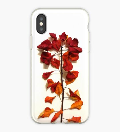 Smokebush Leaves in October iPhone Case