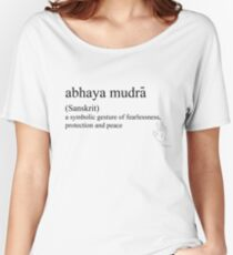 abhaya mudra-(Sanskrit)- statement tees & accessories Women's Relaxed Fit T-Shirt