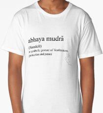 abhaya mudra-(Sanskrit)- statement tees & accessories Long T-Shirt