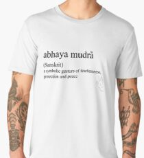 abhaya mudra-(Sanskrit)- statement tees & accessories Men's Premium T-Shirt