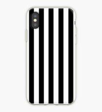 Black White Stripe Bedspread iPhone Case