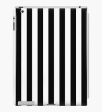 Black White Stripe Bedspread iPad Case/Skin