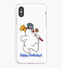 Frosty: Happy Birthday! iPhone Case/Skin