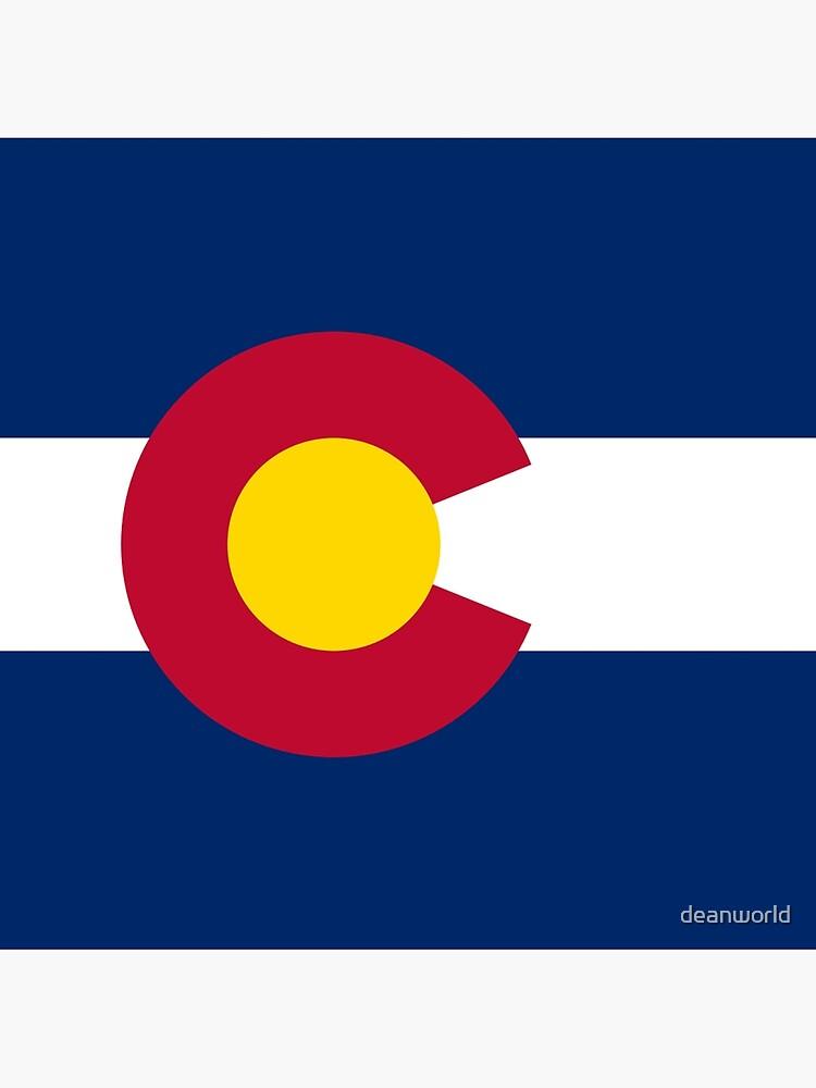 Colorado USA State Flag Bedspread T-Shirt Sticker by deanworld