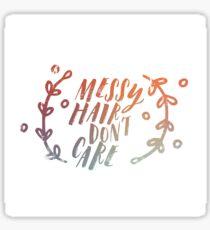 Messy Hair Sticker