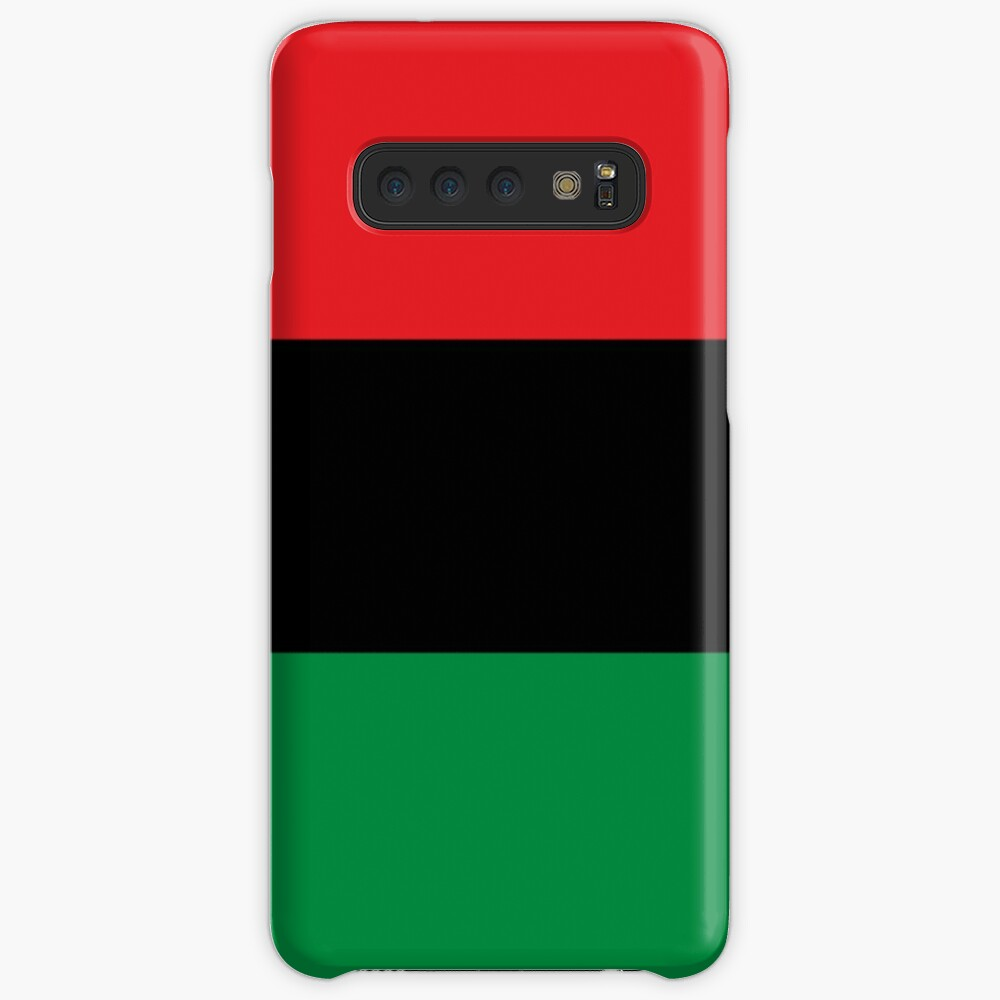 Pan African Flag T-Shirt - UNIA Flag Sticker - Afro American Flag Case & Skin for Samsung Galaxy