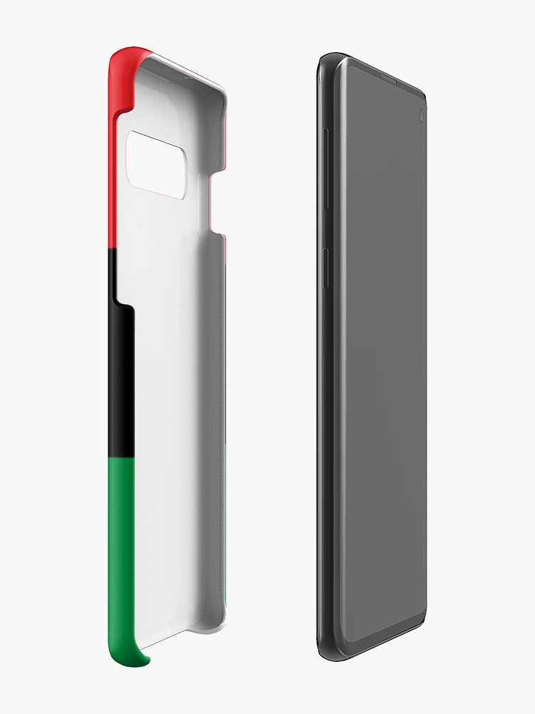 Alternate view of Pan African Flag T-Shirt - UNIA Flag Sticker - Afro American Flag Case & Skin for Samsung Galaxy