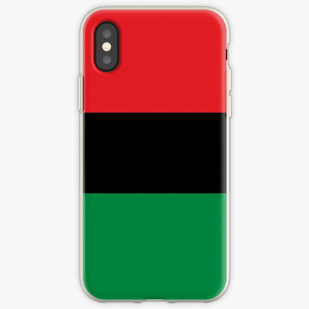Pan African Flag T-Shirt - UNIA Flag Sticker - Afro American Flag iPhone Case & Cover