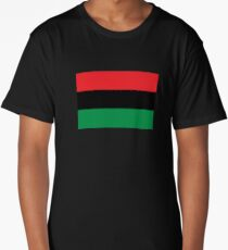 Pan African Flag T-Shirt - UNIA Flag Sticker - Afro American Flag Long T-Shirt