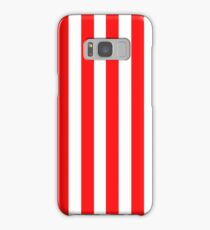 Red and White Striped Slimming Dress Samsung Galaxy Case/Skin