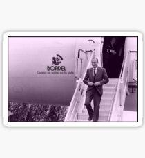 Jacques Chirac, Bordel quand il entre sur la piste Sticker