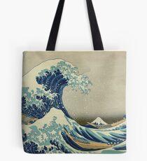 Große Welle T-Shirt - Hokusai Duvet Surfen Kanagawa Mount Fuji Aufkleber Tote Bag
