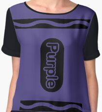 Purple Crayon Halloween Group Costume Gift Women's Chiffon Top