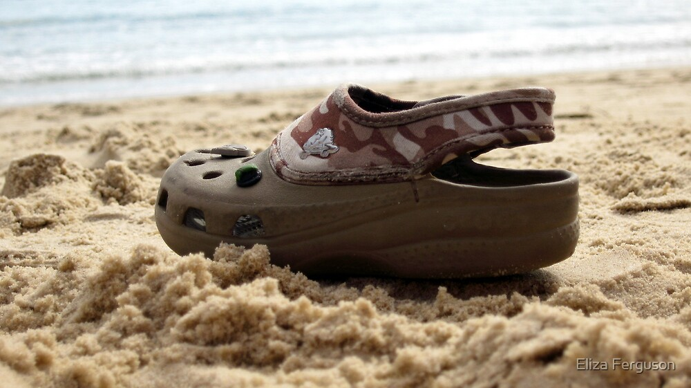 Croc on a Beach by Eliza Ferguson