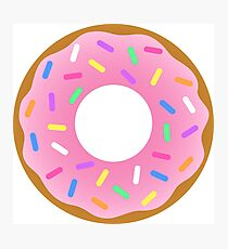 Donut the Simpsons Photographic Print