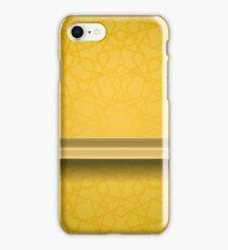 Empty Yellow Shelf  on Ornamental  Yellow Lines Background iPhone Case/Skin