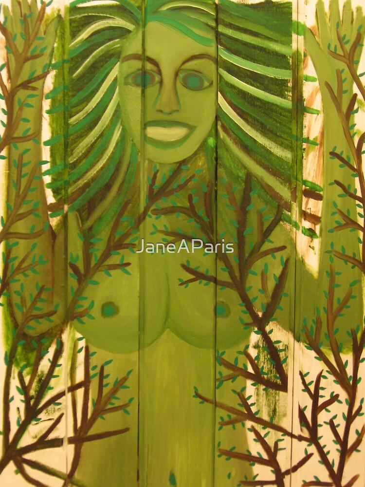 LADY STUCK IN WOOD by JaneAParis