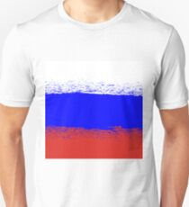 Flag of Russia. Grunge Russian Background. National Russian Flag T-Shirt