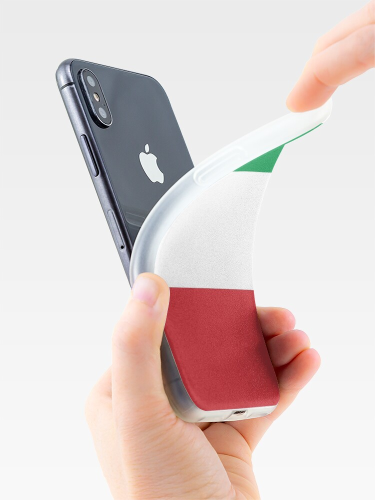 Vista alternativa de Vinilos y fundas para iPhone Bandera de Italia - Camiseta italiana