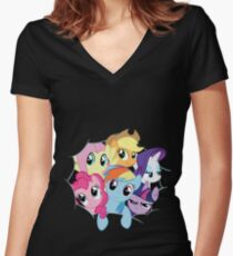 Mane Six Break Out! Women's Fitted V-Neck T-Shirt