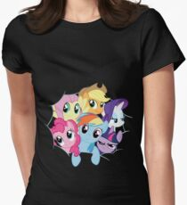 Mane Six Break Out! Women's Fitted T-Shirt