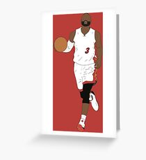 Dwyane Wade Heat Greeting Card
