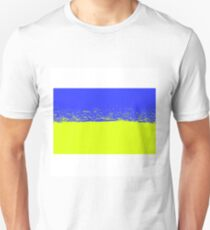 National Flag of Ukraine. Ukrainian Grunge Flag. Symbol of Ukraine T-Shirt