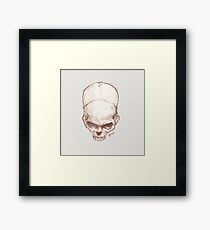 Tilted Skull - The Punisher Framed Print