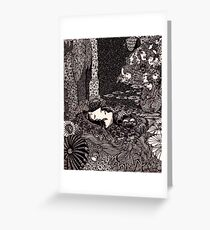 Sleeping Morella, from Edgar Allan Poe s Tales (1933) Greeting Card