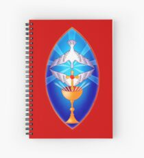 Rosicrucian Cross, Dove and Grail Spiral Notebook