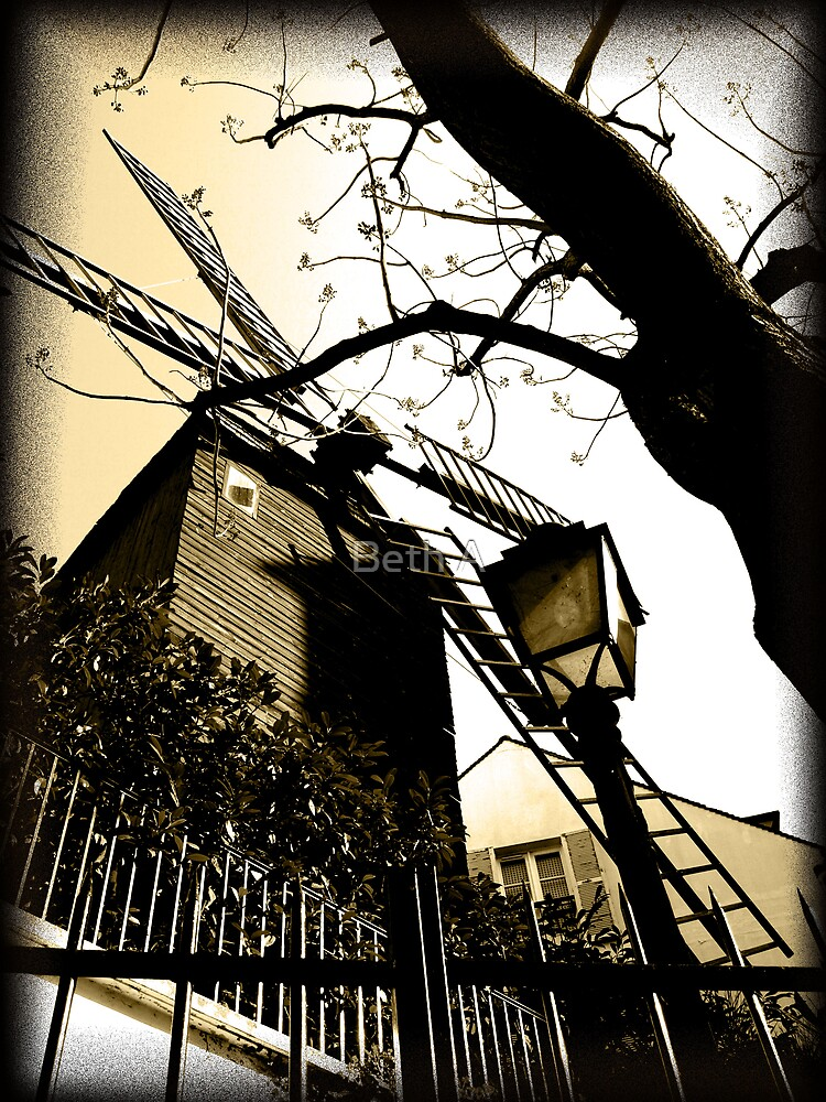 Montmartre Windmill by Beth A