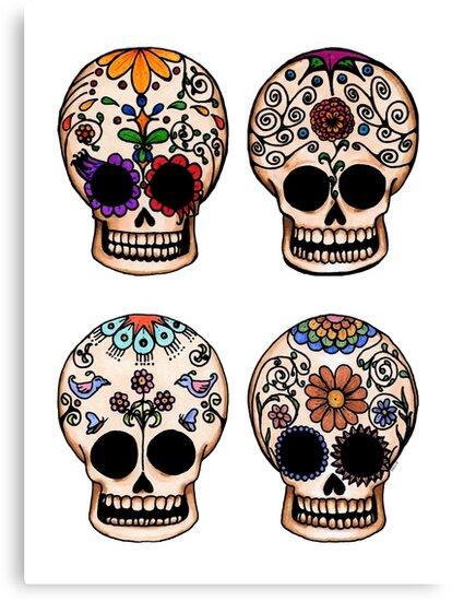 Sugar Skull Set by Amy-Elyse Neer