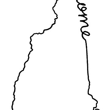 New Hampshire Home State Outline by jamiemaher15