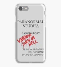Paranormal Studies Laboratory - Ghostbusters iPhone Case/Skin