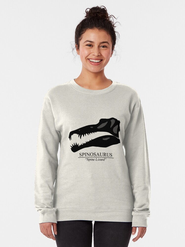 Alternate view of Spinosaurus Skull Pullover Sweatshirt