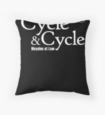 Cycle and Cycle. Bicycles at Law Throw Pillow