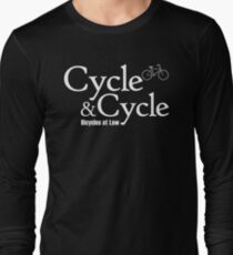 Cycle and Cycle. Bicycles at Law Long Sleeve T-Shirt