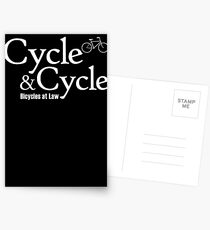 Cycle and Cycle. Bicycles at Law Postcards