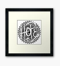 HOPE - Mandala Framed Print
