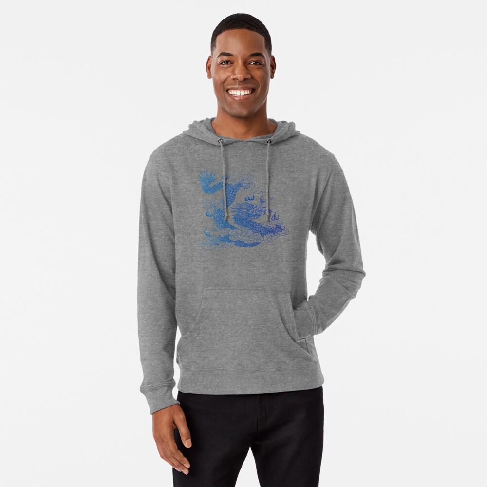 Awesome Asian Dragon Lightweight Hoodie