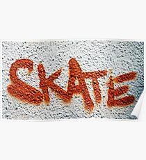 Skate Graffiti Poster