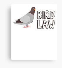 Bird Law Canvas Print
