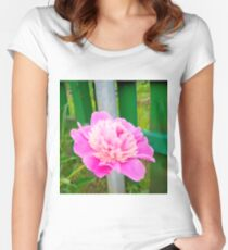 Pink Peony 5 Women's Fitted Scoop T-Shirt