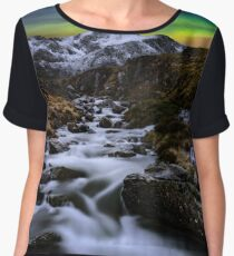 Glowing Skies Women's Chiffon Top