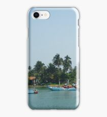 Fishing boats at the Marina near the coast iPhone Case/Skin