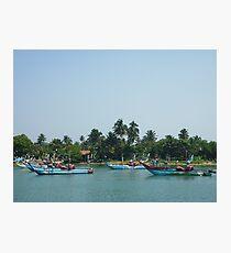 Fishing boats at the Marina near the coast Photographic Print