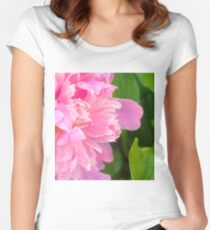 Pink Peony 9 Women's Fitted Scoop T-Shirt